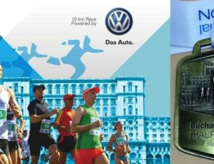 Andrei Gligor si Bery Fitness & Spa - Bucharest International Half Marathon
