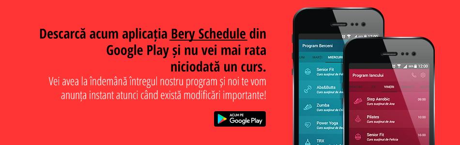 Lansam aplicatia Android Bery Schedule